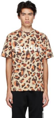 Études Brown Leopard Wonder T-Shirt
