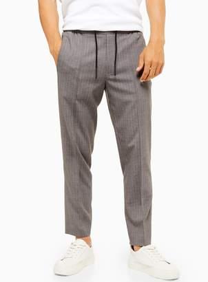 TopmanTopman Grey and Pink Pinstripe Slim Fit Smart Trousers