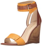 Nine West Women's Finula Leather Wedge Sandal