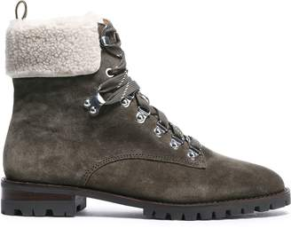 Rebecca Minkoff Faux Shearling-paneled Suede Ankle Boots