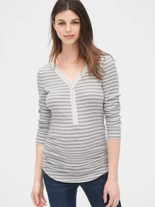Gap Maternity Featherweight Ribbed Henley