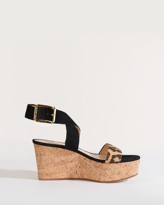 Veronica Beard Hurley Cross Ankle-Strap Sandal