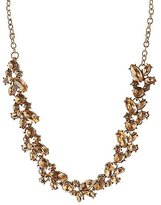 Charlotte Russe Clustered Gemstone Bib Necklace