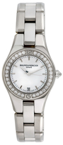 Baume & Mercier Vintage Stainless Steel, Mother of Pearl & 0.32 Total Ct. Diamond Linea Dress Style Watch, 27mm