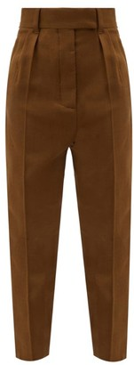 Haider Ackermann Flap Pocket Tapered Wool-fleece Trousers - Brown