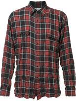 Saint Laurent crinkle-effect checked shirt