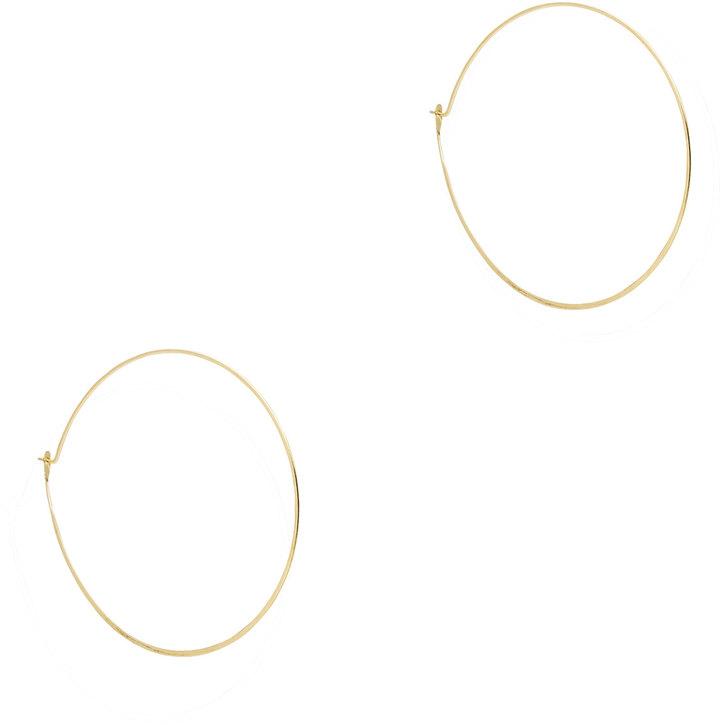 Michael Kors Whisper Medium Hoop Earrings, Golden