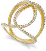 Macy's Diamond Interlocking Ring in 14k Gold (1/2 ct. t.w.)