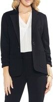 Vince Camuto Ruched Sleeve Ponte Blazer