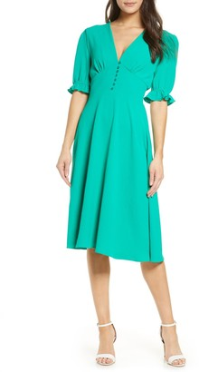 Fraiche by J Button Down Dress