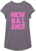New Balance Girls 7-16 Heather Graphic Tee