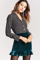 Forever 21 Velvet Ruffle Mini Skirt