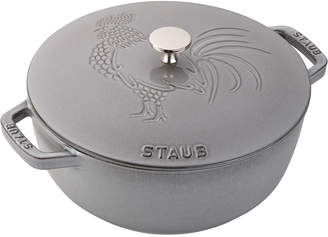 Staub 3.75-Qt. Essential French Oven Rooster with Lid, Graphite Grey
