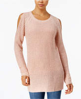 Ultra Flirt By Ikeddi Juniors' Cold-Shoulder Sweater