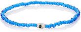 Luis Morais Men's Palm Tree Etched-Bead Bracelet-BLUE