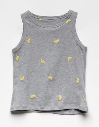 Full Tilt Lemon Print Girls Tank Top