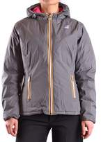 K-Way Women's Grey Polyamide Outerwear Jacket.