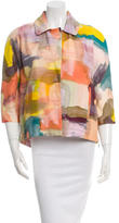 Piazza Sempione Watercolor Zip Side Jacket