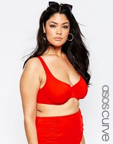 Asos Underwired Ruched Bikini Top