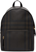 Burberry Brown Abbeydale London Check Backpack
