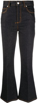 Alexander McQueen High-Rise Flared Jeans