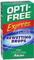 Opti-Free Express Contact Lenses Rewetting Drops