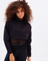 Ivy Park Open Mesh Panel Zip Funnel Sweat