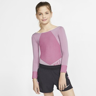 Nike Big Kids (Girls) Long-Sleeve Running Bodysuit Tech Pack
