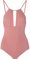 Melissa Odabash Phuket Cutout Swimsuit - Antique rose