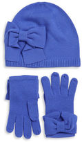 Kate Spade Bow Knit Beanie and Gloves Set