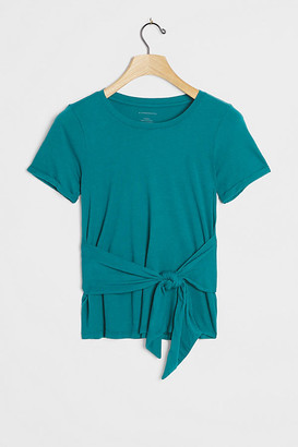 Anthropologie Rosamund Tie-Front Tee By in Blue Size XS