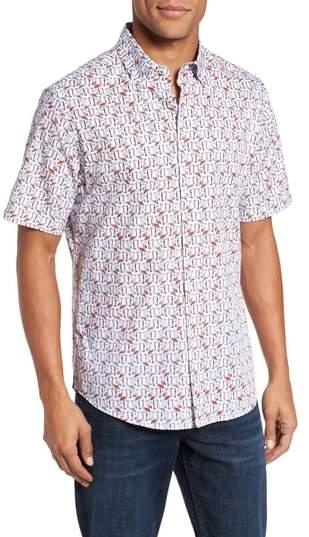 Vilebrequin Slim Fit Flamingo Sport Shirt