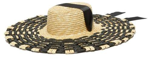 9b89475b Womens Black Ribbon Straw Hat - ShopStyle