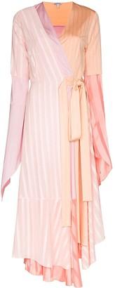 Loewe Asymmetric Pleated Midi Dress