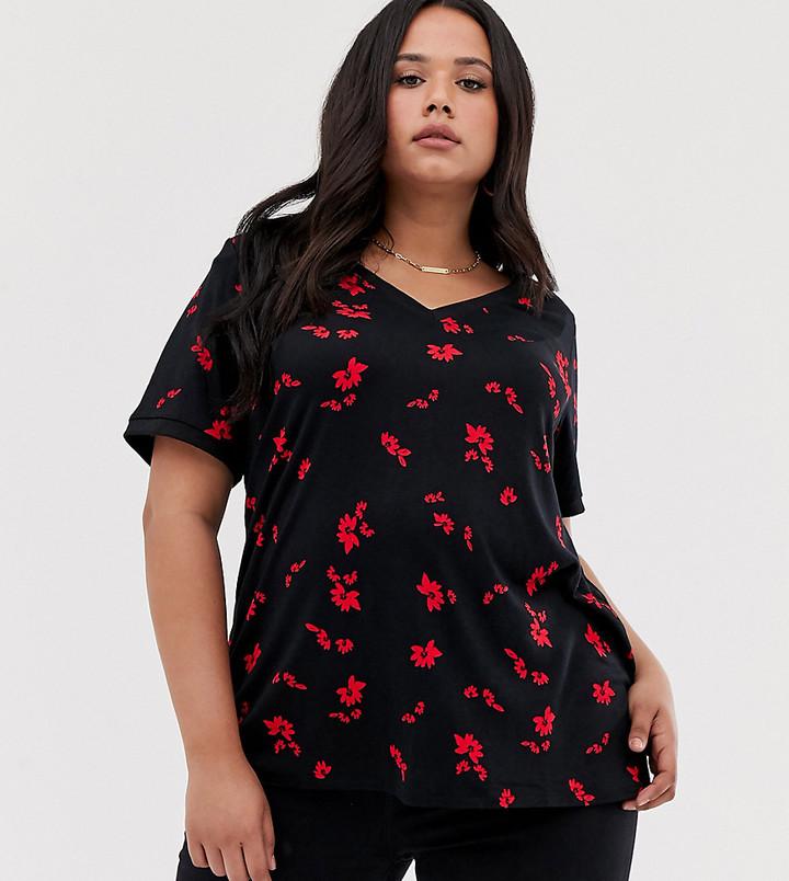 Junarose floral swing t-shirt