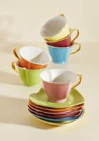 ModCloth Dream and Sugar Tea Set in Rainbow - Gold Trim