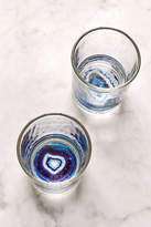 Urban Outfitters Geode Bottom Glass - Set Of 2