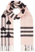 Burberry Heart Giant Check Cashmere Scarf