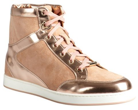 Jimmy Choo dusty rose suede and leather 'Tokyo' high-top sneakers