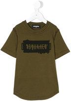 DSQUARED2 logo print T-shirt - kids - Cotton - 4 yrs