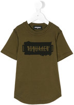 DSQUARED2 logo print T-shirt - kids - Cotton - 6 yrs