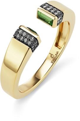 Sorellina Sorelina Pietra Diamond Pave Open Ring
