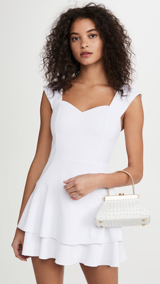 Alice + Olivia Brinda Double Ruffle Fit Flare Dress