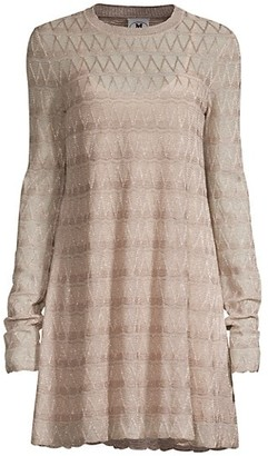 M Missoni Metallic Knit Mini Dress