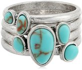 Lucky Brand Turquoise Stack Ring, Size