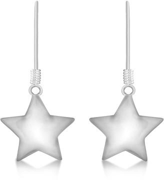Tuscany Silver Women's Sterling Silver Polished Star 14.5 x 29 mm Drop Earrings