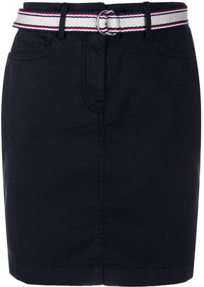 Tommy Hilfiger Belted Straight Skirt
