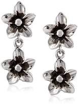 Zina Sterling Double Flower Drop Earrings