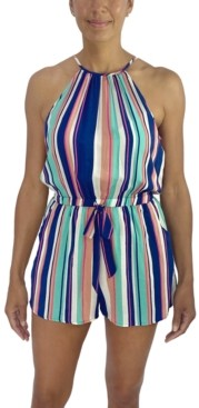 Fishbowl Juniors' Striped Romper