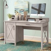 Beachcrest Home Cyra Computer Desk Color: Washed Gray